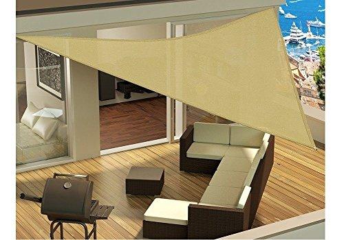 Vida XL Top Shop Parasol extérieur de Tente de Parasol avec des Cordes pour l'attachement Beige de 3.6x3.6x3.6m Beige