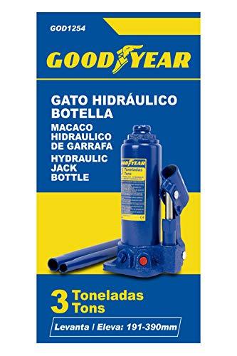 Goodyear Gato Hidráulico de Botella, 3 Toneladas