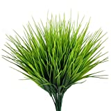 FUJIE 4 Stück Kunstpflanze Sträucher Dekor Simulation Pflanzen Künstlicher Grasbund Künstliche Balkonpflanzen aus Kunststoff Dekoration für Drinnen und Draußen, Haus, Büro
