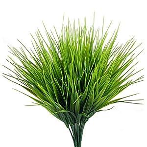 FUJIE 4 Pcs Arbustos Artificiales Plantas Verdes Artificiales de Plástico Ramos Artificiales Interior Exterior…