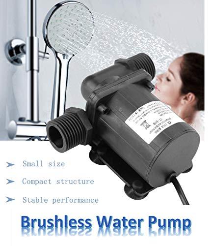 Waterpomp, borstelloze motor 1000L / H 24V, mini-zonnewater-circulatiepomp, hoge hydraulische opvoerhoogte 7 m, geluidsarm, eenvoudig te installeren