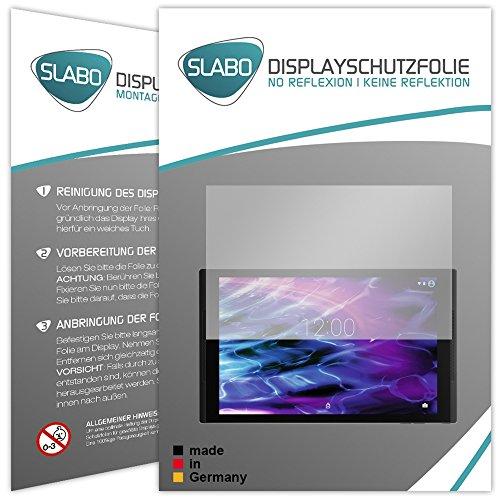 Slabo 2 x Bildschirmschutzfolie für Medion Lifetab S10352 (MD 99482) Bildschirmschutz Schutzfolie Folie No Reflexion | Keine Reflektion MATT