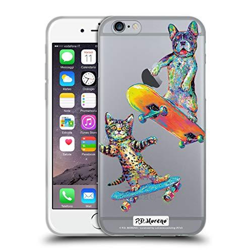 Head Case Designs Ufficiale P.D. Moreno Coppia Skateboard Amore Divertente Cover in Morbido Gel Compatibile con Apple iPhone 6 / iPhone 6s