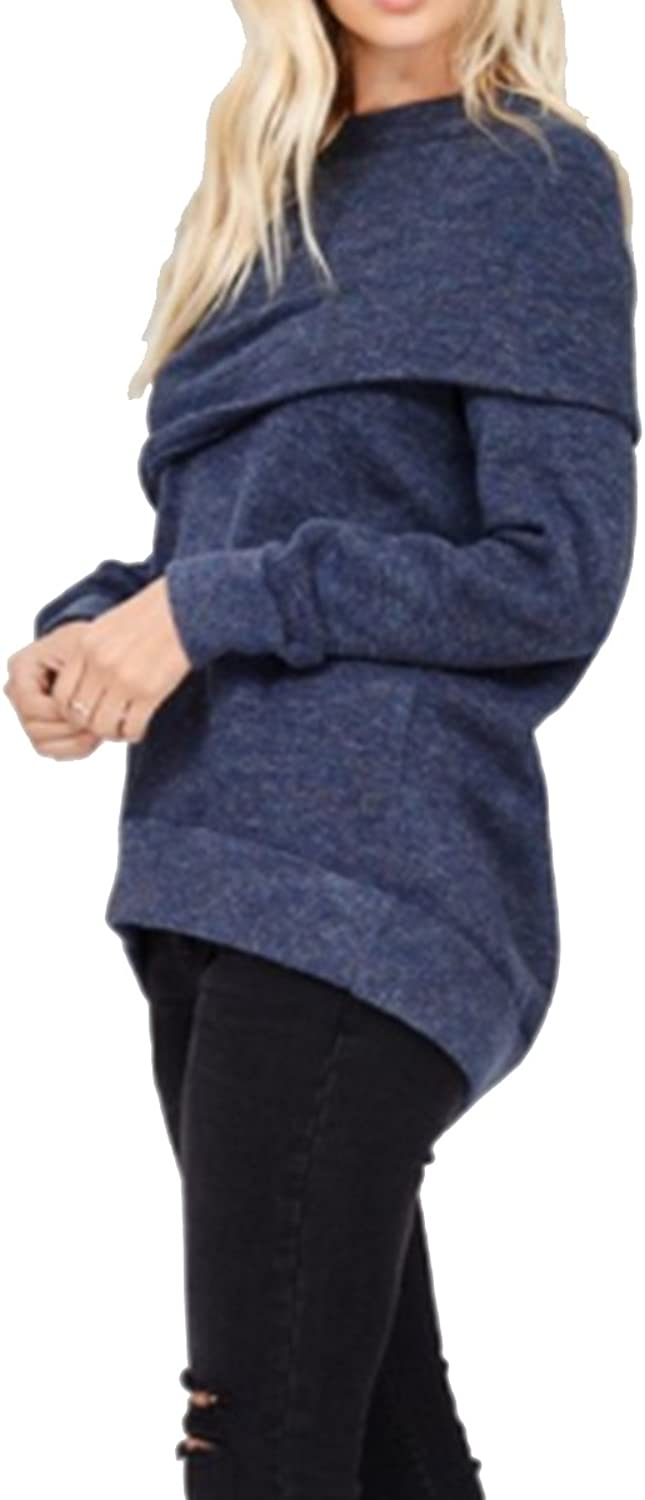 Wishlist Womens Boutique Apparel Long Sleeve Loose Cowl Neck Sweater Top