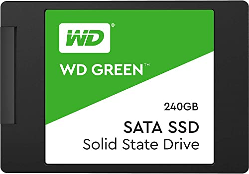SSD WD Green 2.5´ 240GB SATA III 6Gb/s Leituras: 545MB/s e Gravações: 465MB/s - WDS240G2G0A
