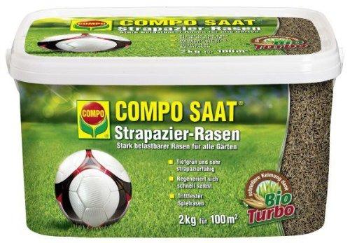 COMPO SAAT Strapazier-Rasen 2 kg   ein optimaler Spiel- u. Sportrasen