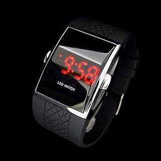 Niome Men's Fashion LED Digital Date Sports Quartz Waterproof Wrist Watch PU Band