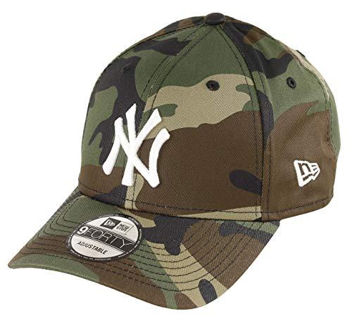 New Era York Yankees 9forty Adjustable Cap MLB Rear Logo Woodland Camo/White - One-Size