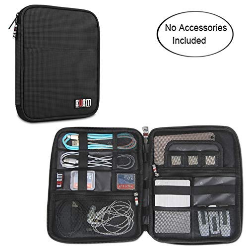 BUBM Travel Organizer for Electronics Accessories, Sky Blue