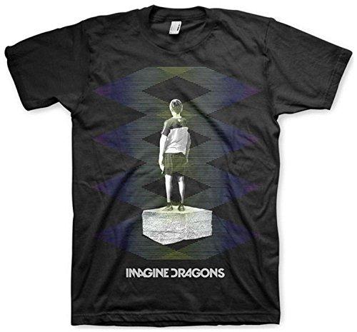 Imagine Dragons - - T-shirt Zig Zag hommes, Large, Black