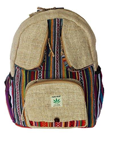 Rucksack aus Hanf, cultbagz Nepal Hand Made bee Eyes