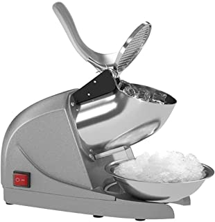 KH Electric Ice Shaver Snow Cone Maker Machine Silver for Home and Commercial Use (Gray)