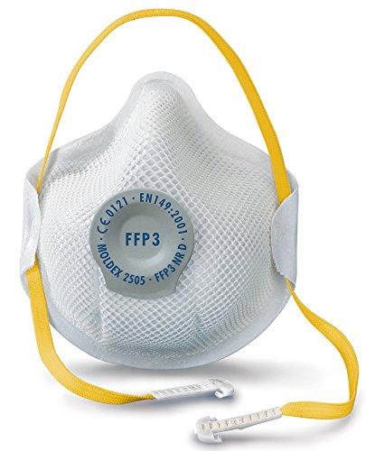 """Moldex Atemschutzmaske""""Smart"""" FFP3 NR D mit Klimaventil, 10 Stück, 2505"""