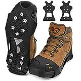 KATELUO Fesoar Spikes für Schuhe, Schuhspikes, Schuhkrallen Steigeisen für Schuhe im Winter mit einem 15er-Pack Ersatz-Schneespikes (M)