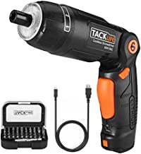 TACKLIFE Cordless Screwdriver, 3.6V 2.0Ah Electric Screwdriver Rechargeable, Adjustable 3 Position Handle, 31pcs Screwdriv...