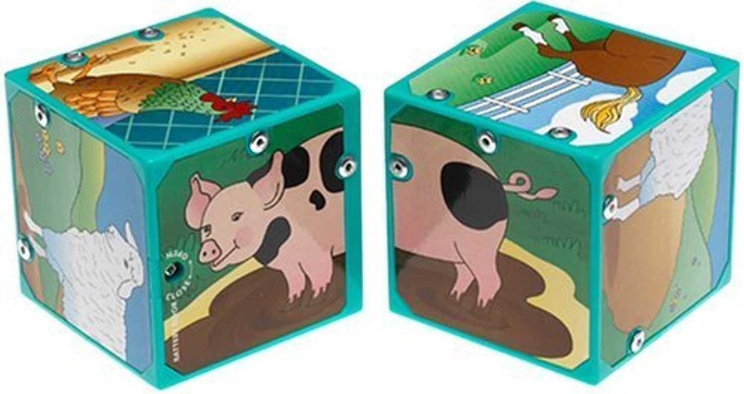 Small World Toys Neurosmith Magic Sound Blocks  Farm Animals by IQ Preschool