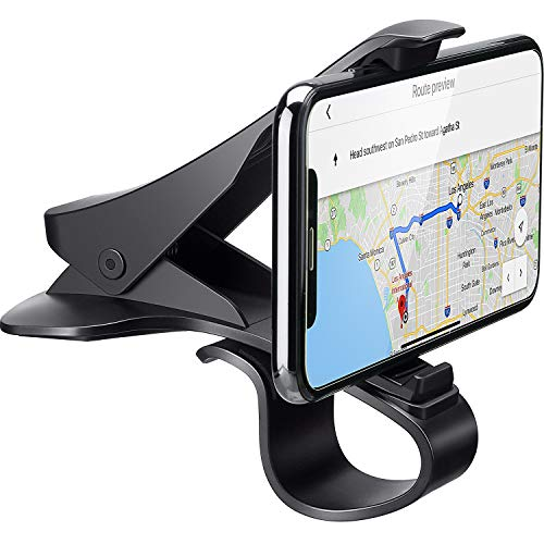 Car Phone Holder Cell Phone Holder for Car Dashboard Cell Phone Holder Dashboard Mount Car Phone Holder Compatible with Smartphones iPhone Samsung (Style 2, 3-6.5 Inches Car Phone Clip Holder)