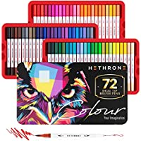 72-Count Hethrone Dual Tip Brush Pens
