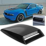 Xotic Tech Universal Fit Car Air Flow Vent Intake Hood Scoop Bonnet Vent Decorative Cover 10'x7' inches (Glossy Black)