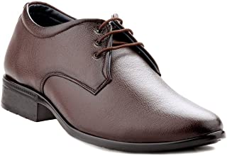 Zebra Men's Derby 100% Pure Pu Leather Brown Shoes.