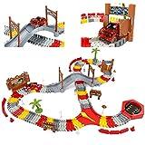 Rennbahn Für Kinder Mit 144-teiliger Autorennbahn und 1 Glühendes Auto Spielzeug Flextreme Autorennbahn Auto Rennbahnen Für Kleinkinder Jugen und Mädchen 3 4 5 6 Jahre Action Track