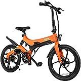 VICASKY Kit Bicicleta Eléctrica 20 Pulgadas, 250W Motor Bicicleta Plegable 25 km/h, 20Bicicleta Eléctrica para Adultos 250W, Batería 36V 7. 8Ah Bicicletas Montaña Eléctricas Ruedas Aleación YN-EB201