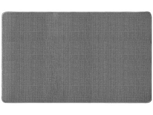 Sisalteppich Sisallux - 100x200cm, grau ✓ Rutschfest ✓ Für Fußbodenheizung ✓ Verschleißfester Flur Sisalteppich | Antistatische Sisalmatte als Teppich-Läufer, Brücke & Vorleger | Auslegeware mit Flachgewebe aus Naturfasern als Küchenläufer