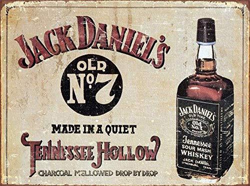 Watermelo Jack Daniels Carteles de Chapa Carteles de Advertencia Carteles de Metal Decorado Bar Restaurante Cocina Oficina Tema Boda Cumpleaños Navidad Pascua Regalo
