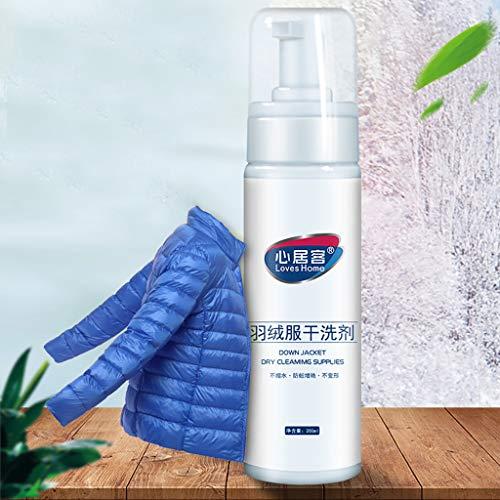 Schoonmaakschuim voor kleding zonder water, verstuiver en zonder wassen, eenvoudig te gebruiken, 200 ml dons Wit.