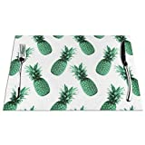 GAHAHA - Tovagliette all'americana con ananas, misura piccola, non sbiadisce, lavabili, insapore per la casa, antiscivolo, 4 pezzi