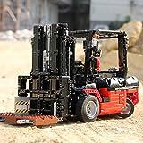 Technic Building Blocks Carrello elevatore Modello 1719 Parti 1:10 2.4 GHz RC Forklift Morsetto Building Blocks Tecnologia Building Blocks con Motori Costruzione Giocattolo