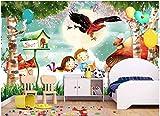 Speedcoming Personalizado Dibujado a Mano Dibujos Animados niño niña flamencos Delfines Setas Barco niños habitación Fondo Pared Papel Tapiz behang x921-150x105cm/59 x 41'