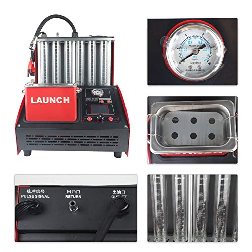MRCARTOOL Launch CNC-603C 6 Cylinder Injector Cleaner & Tester, Automotive Fuel Injection Systems Cleaners and Testers with Free 110V Transformer