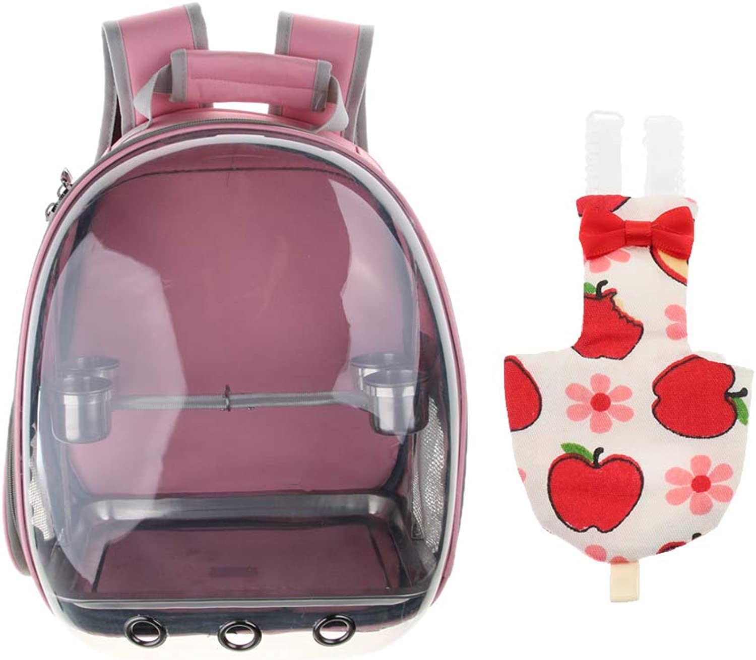 FLAMEER Parred Outdoor Pink Breathable Capsule Backpack & Safe Soft Parred Nappy Diaper(L)