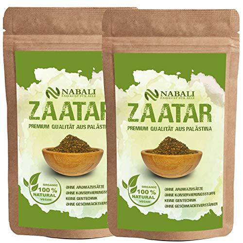 NABALI FAIRKOST FÜR ALLE zaatar kwaliteitsproduct uit Palestina I authentiek volgens Ottolenghi I 100% natuurlijk aromatisch traditioneel vers oosters I zonder conserveringsmiddelen vegan (200 g)