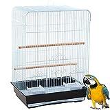 BPS Jaula para Pájaro para Pajarera Periquito Canarios con Comedero Bebedero Saltado para Descanso Color al Azar BPS-1211
