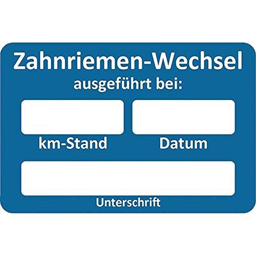 Eichner Kundendienst-Aufkleber Zahnriemen-Wechsel blau 9220-00050 0649964409049