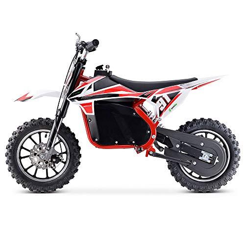 Moto Eléctrica Niños Desde 5 o 6 años | Minimoto Eléctrica Roja BIPOWER Speed Lion | Moto eléctrica 500W y 36V | También para Adultos  60 kg