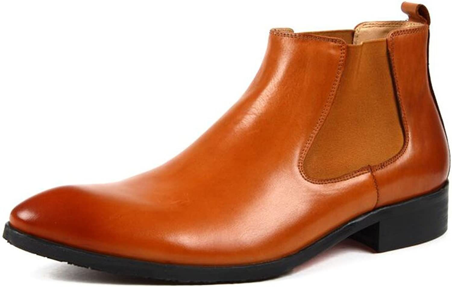 SUNNY Autumn and Winter Fashion Leather Boots Ankle Boots Martin Boots Casual (color   2, Size   EU42 UK8.5 CN43)