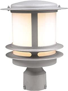 PLC Lighting 1896 SL Exterior Post Light, Silver