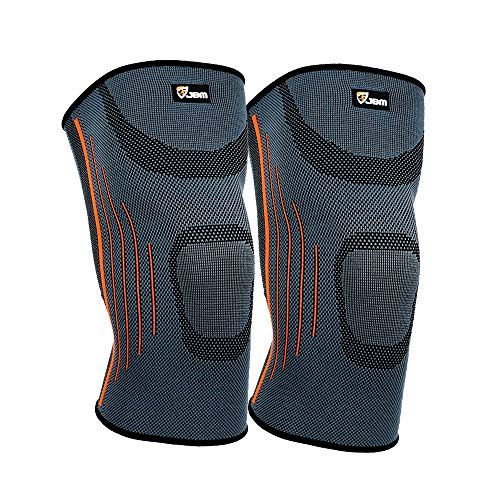 JBM adulti GYM-Supporto ortopedico per ginocchio a compressione per braccio, stabilizzatore, Supporto legamenti ginocchio-Fascia elastica regolabile, resistente e confortevole, per sollievo da dolori, per sollevamento pesi, Fitness, da calcio, basket, pallavolo da Baseball da Tennis/Badminton per ciclismo da corsa, ciclismo, Hiking, arrampicata
