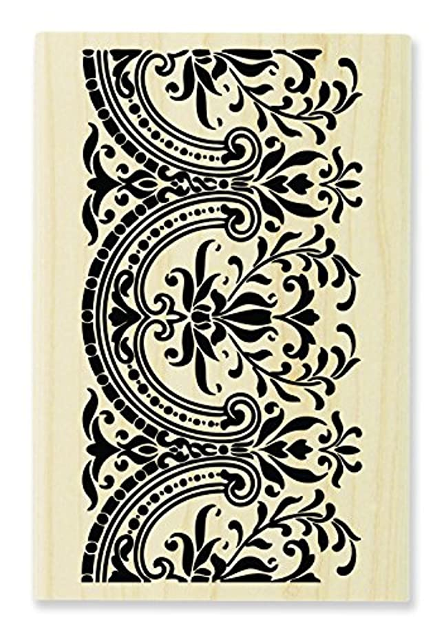 STAMPENDOUS Wood Rubber Stamp, Decorative Border ?