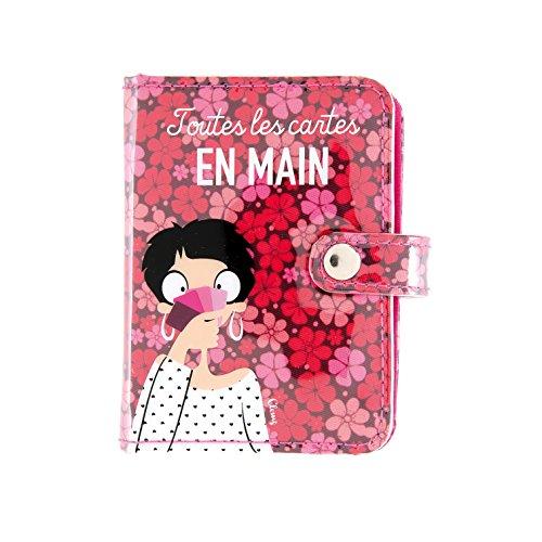 Derrière la porte Porte-cartes FOLK En main - rose