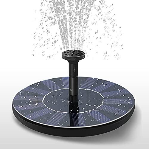 Pompe à fontaine solaire, Circle Jardin Solaire Pompe à eau solaire Kit de panneau solaire Solar Birdbath Fontaine Equipement d'eau extérieure pour bain d'oiseaux, étang, fontaine, décoration de jardi