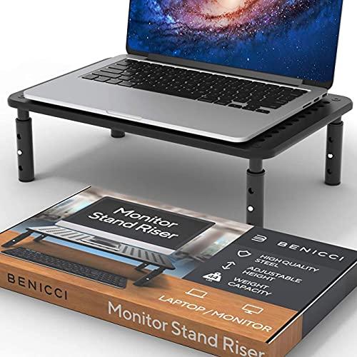 NLASHFO Computadora portátil de Metal de Escritorio Soporte de Monitor Ajustable Riser Juego de computadora portátil