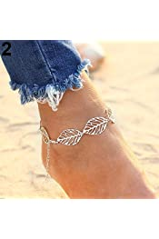 Golden nuiOOui131-Fine Workmanship Women Fashion Boho Bell Round Charms Anklets Ankle Bracelet Chain Foot Jewelry