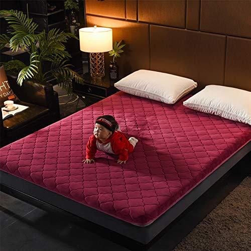 GFYL Gesteppte japanische Fußboden-Futon-Matratze, hochwertige Fußboden Matratze, zusammenklappbare Tatami-Fußboden Matte, japanische Futon-Tatami-Matten-Isomatte,C,200 * 220cm
