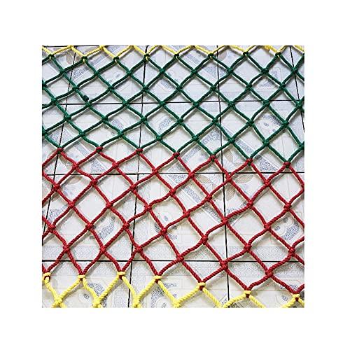 Red de Escalada Kindergarten Deportes al Aire Libre Red de Cuerda, Color Otoño Protección Neto de Seguridad, Zona de Juegos Formación de expansión Red de Escalada (Size : 2x5m(7x16ft))