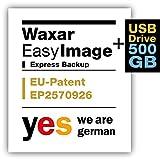 Waxar EasyImage-500, Backup Software auf externer Festplatte, läuft automatisch ohne-Installation, kompatibel zu Windows, Mac, Linux, Speichermedium inklusive -1PC deutsch