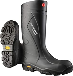 Dunlop EC02A3310 Purofort Expander Full Safety Boots with Slip-Resistant Vibram Rubber Sole and Steel Toe, 100% Waterproof Purofort Material, Lightweight and Durable Protective Footwear, Size 10
